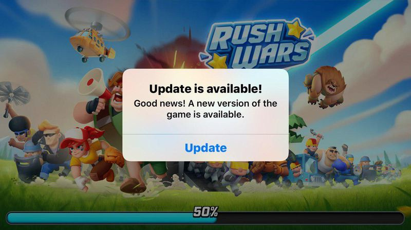 RUSH WARS' 1ST UPDATE